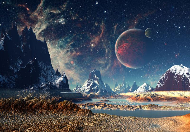 Фотообои под заказ На другой планете, дизайн #08623