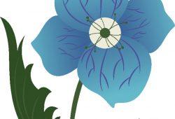 Синий цветок, дизайн #08799