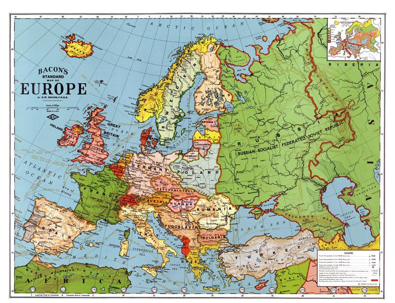 Фотообои под заказ Карта Европы, дизайн #09194