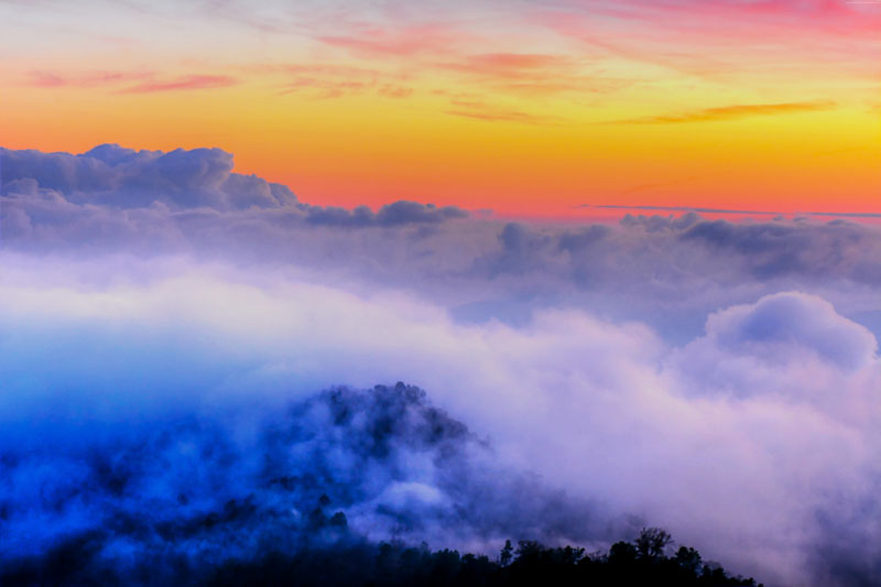 Фотообои под заказ Над облаками, дизайн #09207