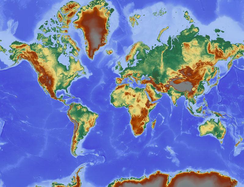 Фотообои под заказ Карта мира, дизайн #09227