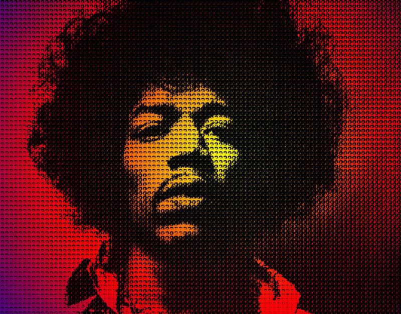 Фотообои под заказ Jimi Hendrix, дизайн #09241
